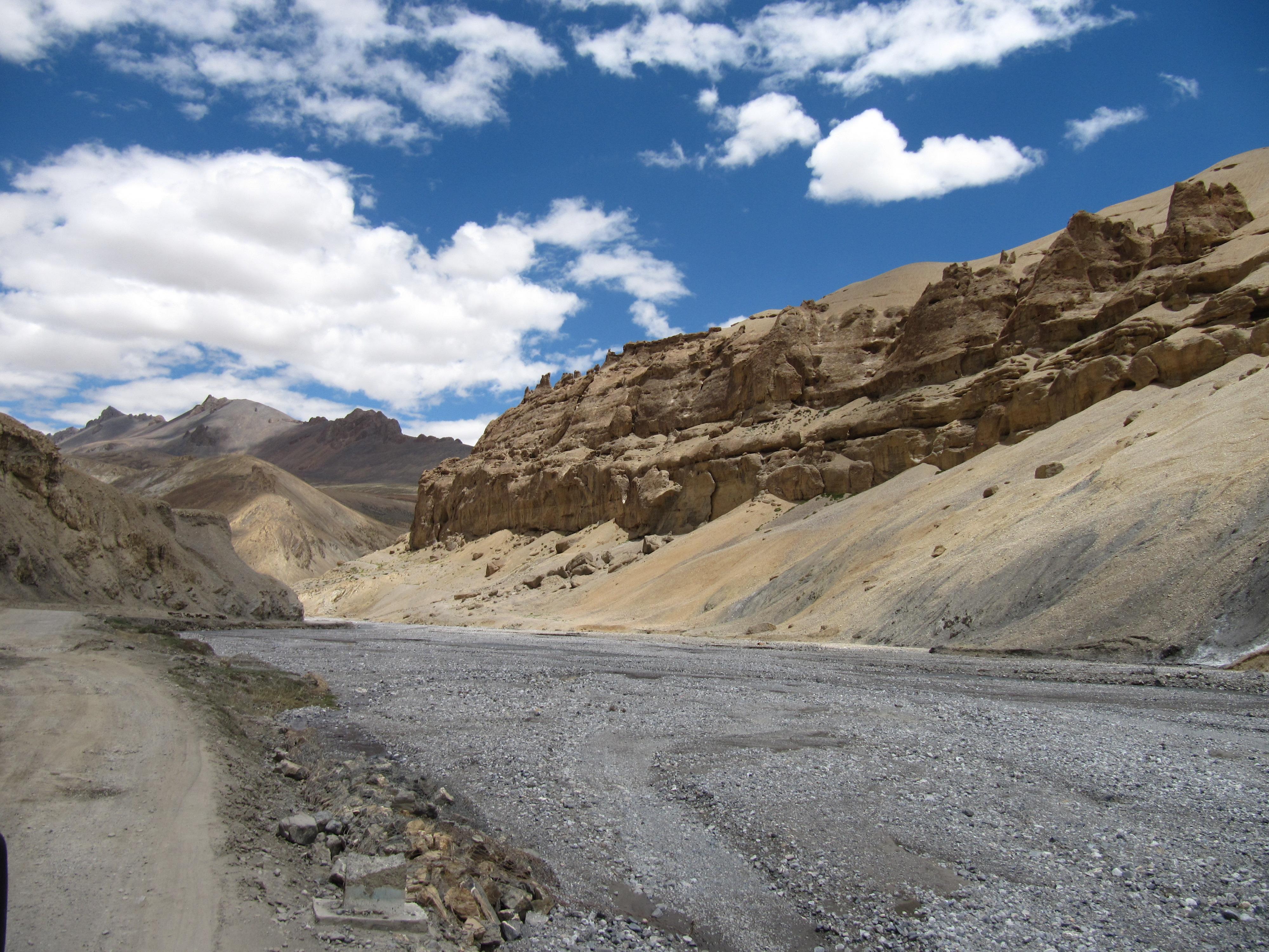 Route Manali-Leh, Inde, 4 juillet 2013