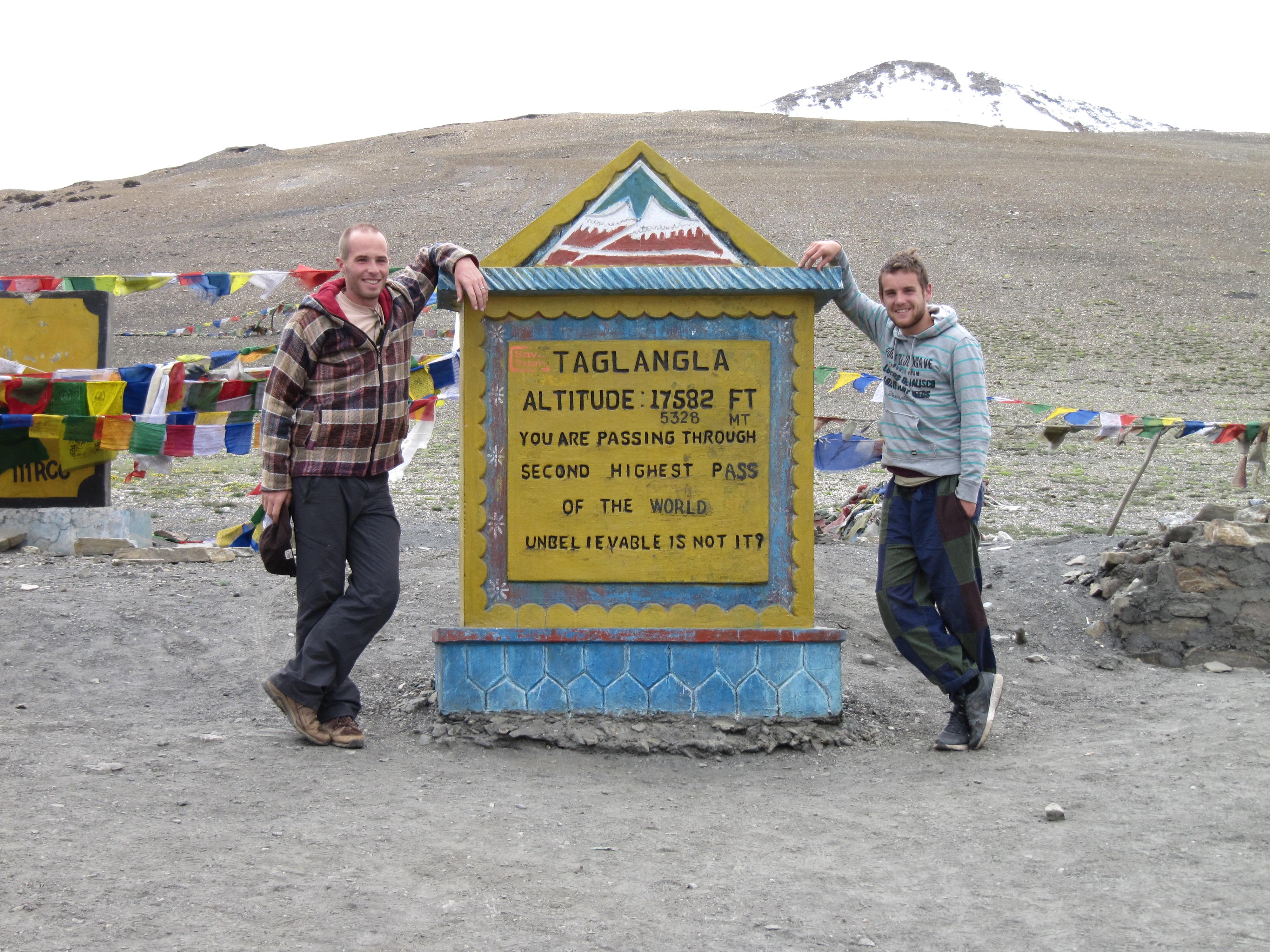 Chris et Nath au Tanglangla, Inde, 4 juillet 2013