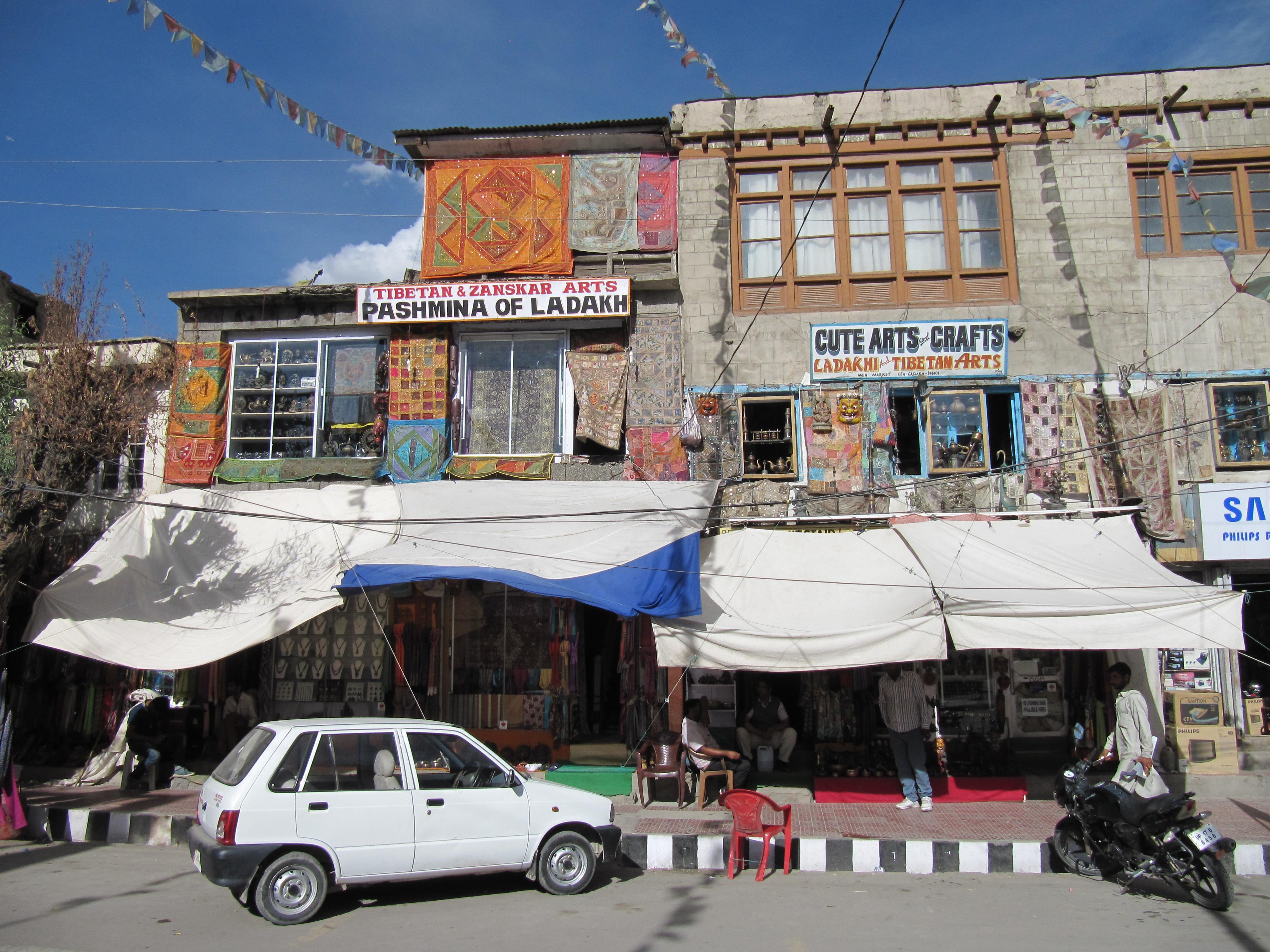 Rue Main Bazaar, Leh, Inde, 5 juillet 2013